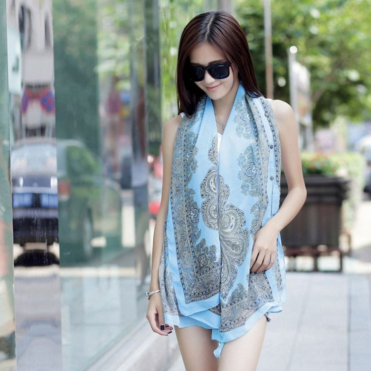 >> Click to Buy << 2017 Fashion Summer Style Flower Pattern Print Fold Chiffon Scarf Beach Cover Up Towels Ladies Scarves Shawls Hot sales  #Affiliate
