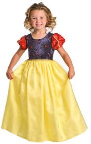 Deluxe Snow White Princess dress for girls. Washable, comfortable, affordable and adorable. The best dress-up clothes for kids. #princessdress #rosiesboutique #rosiesteaparty #girlscostumes
