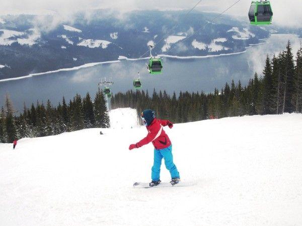 Snowboard la Vidra - Transalpina