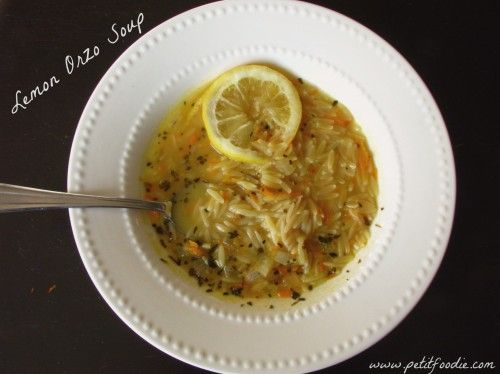 lemon garlic orzo soup