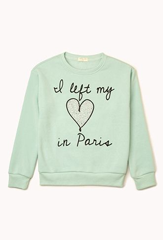 Left My Heart In Paris Sweatshirt (Kids) | FOREVER21 girls - 2002246017