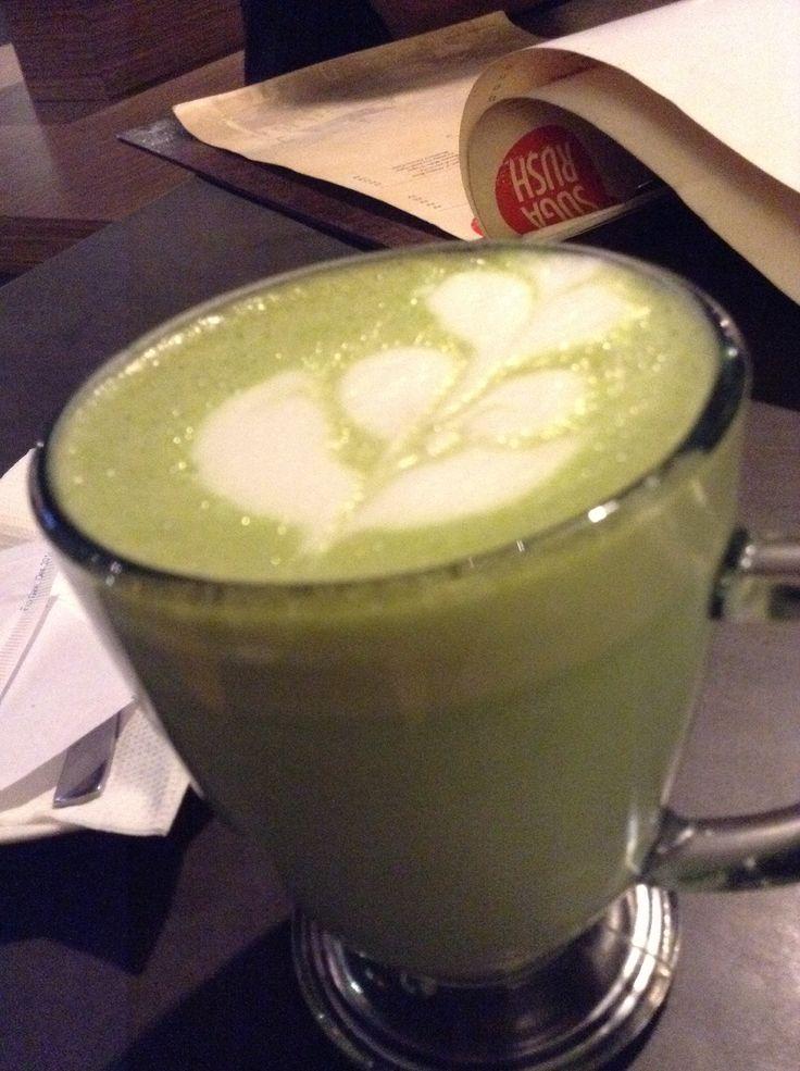 Hot Matcha Latte at Sugar Rush Bandung