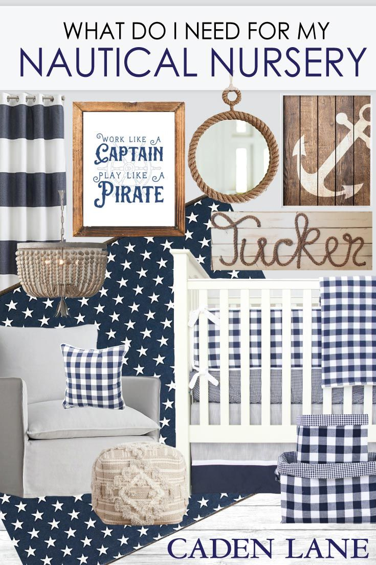This nautical nursery is more than adorable! Love the classic style with marine accents. <3