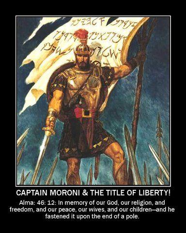 Title Of Liberty Photo Captain Moroni Motivational Poster LDS Mormon