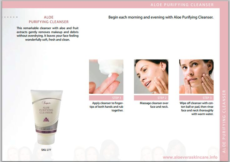 ALOE PURIFYING ClEANSER This remarkable cleanser with aloe and fruit  extracts gently removes makeup and debris  without overdrying. It leaves your face feeling  wonderfully soft, fresh and clean. http://www.healeraloe.flp.com