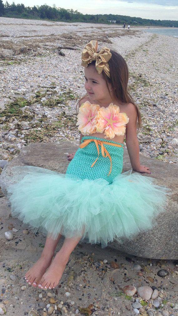 65a41f621385b Mermaid Tutu, Little Mermaid, Mermaid Costume, Ocean Theme, Beach Theme,  Beach Birthday, Photography Prop, Baby Bikini, OOC in 2019 | BEACH | Mermaid  tutu, ...