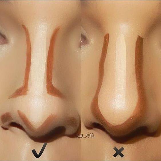 Nase richtig contourieren