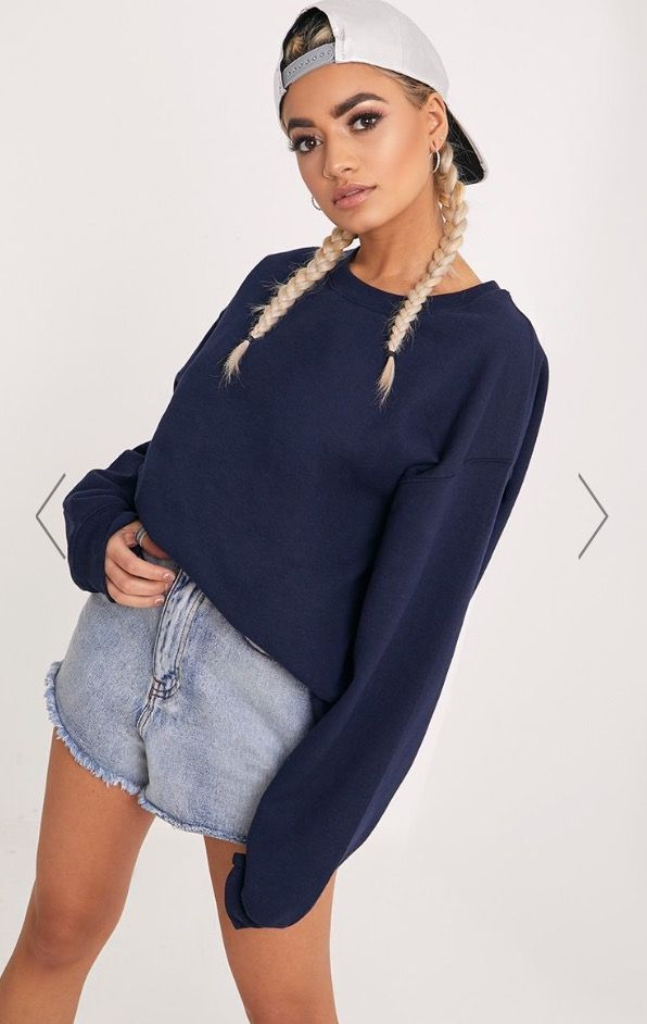 9cd3c13117 NAVY ULTIMATE OVERSIZED SWEATER £15.00 Pretty Little Thing ...
