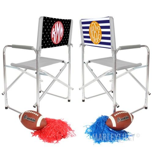 Who needs a monogrammed tailgate chair? Everyone.