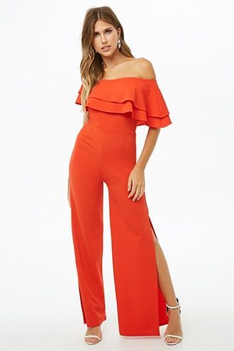 f94397b2fef1 Tiered Flounce One-Shoulder Jumpsuit