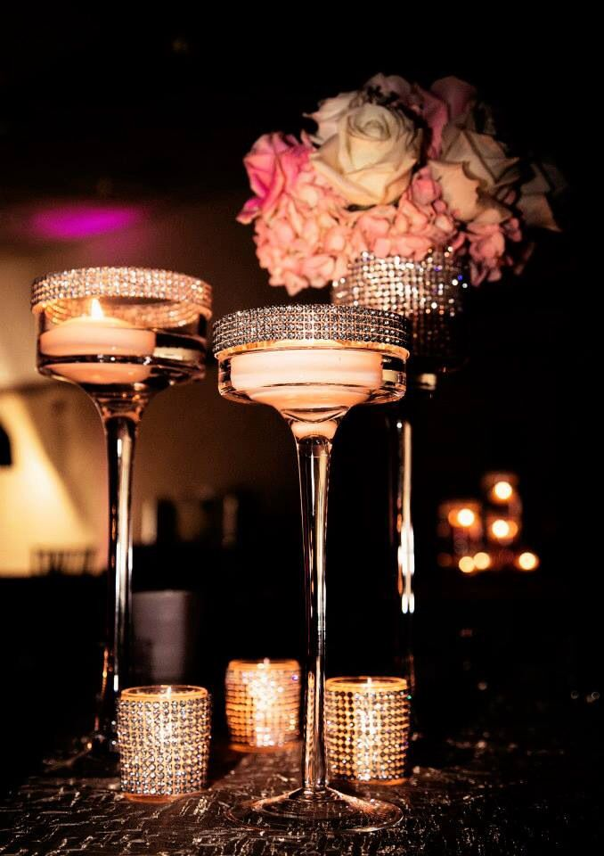 rhinestone wedding decorations 36 best images about bling centerpieces on 7087