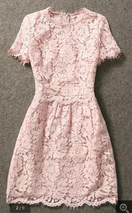 sweet pink lace dress