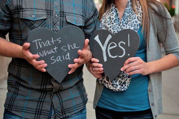 funny engagement. Gahhhh!!