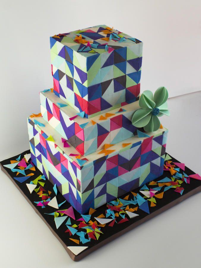 Geometric Cake by Cesar Renteria Cakes