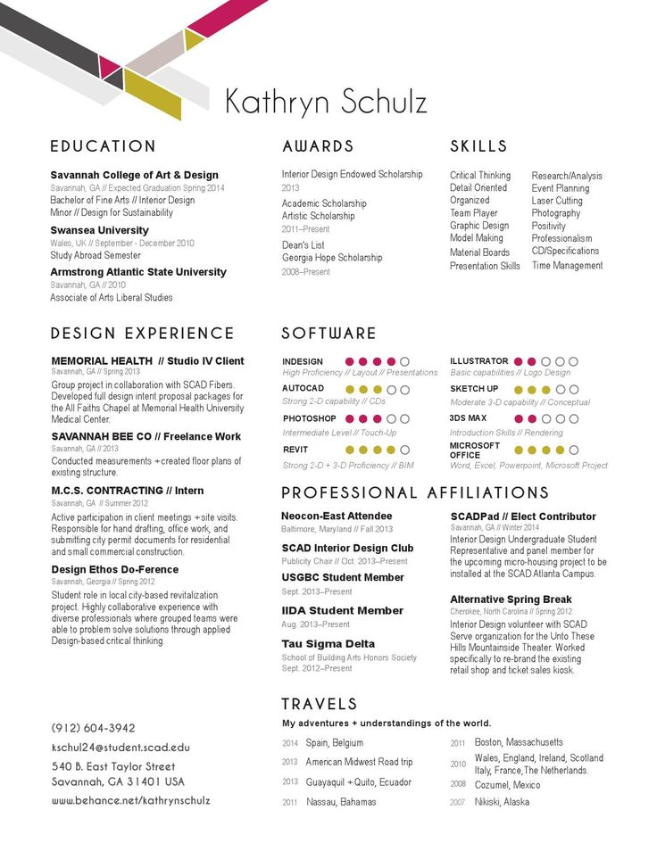 Best Interior Design Resume Images On   Interior