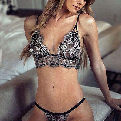 Neu Sexy Damen Lace Unterwäsche Set Babydoll Nachtwäsche Schlafanzüge G-String
