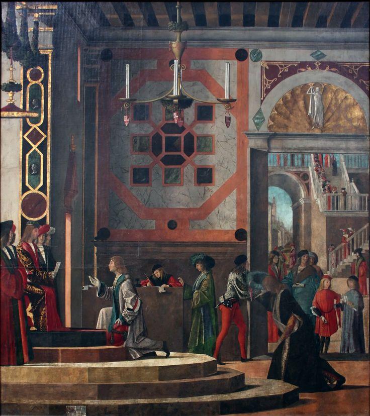 Afscheid van de Engelse gezanten ~ Uit de cyclus De legende van de heilige Ursula ~ 1495 ~ Olieverf op doek ~ Gallerie dell'Academia, Venetië