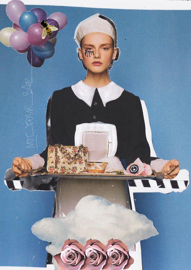 Mixed Media Fashion Collage by Rebecca Coltorti | Miu Miu Inspired