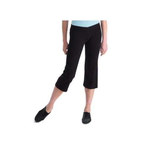 Bloch Elancer, Ladies jazz pant  Ladies' V front capri length jazz pants.  Fabric: 90% cotton, 10% spandex Sizes : P,S,M,L  Colors:Black  Price: 22.00€