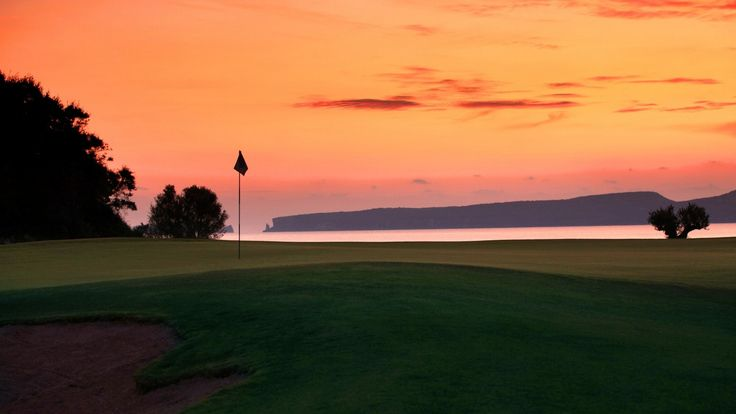 Enjoy the sunset after a golf session at the Bay Course in Messinia