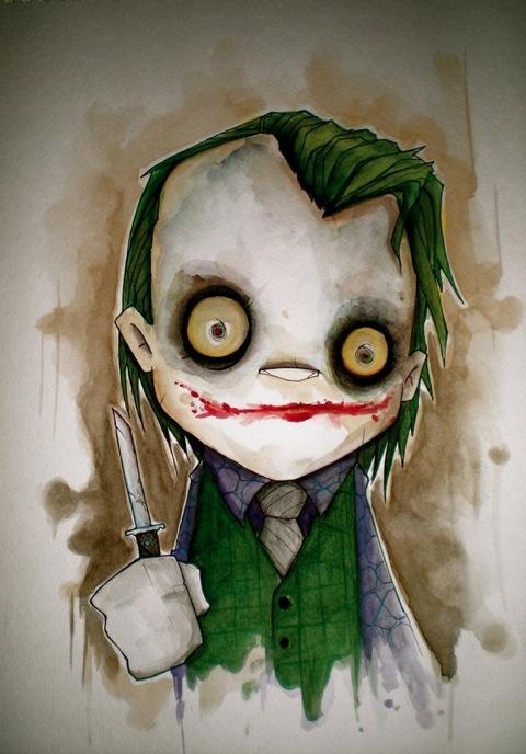 Joker is the crazy cartoon character every