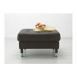 IKEA - ЛАНДСКРУНА, Табурет для ног, -, дерево, , Контактные поверхности обтянуты прокрашенной кожей толщиной 1,2 мм, мягкой и эластичной.Можно использовать как дополнительное место для сидения или комфортное продолжение дивана.Внешние поверхности обиты тканью с прочным покрытием, которая по виду и на ощупь похожа на кожу.Подушки сиденья с наполнителем из высокоэластичного пенополиуретана и ваты из полиэстерного волокна обеспечивают особый комфорт.Бесплатно 10 лет гарантии. Подробнее об…