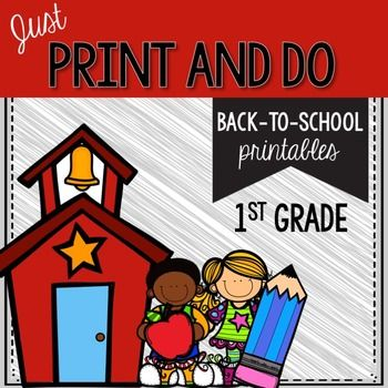 This is a pack of print and do activities for your first first graders. This pack is meant to be a review of kindergarten concepts and early first grade skills. Included: Literacy Activities Let's Count Syllables Reading Sounds- beginning sounds (b, f, m, s, t) Scoops of Sounds- vowel sounds (a, i, o) Back to School Sentences Sentence Writing Sticky Alphabet- lowercase alphabet practice Double Bubble- rhyming Beginning Sounds- mixed Books of Sounds- beginning sounds (g, h, n, w) Start You...