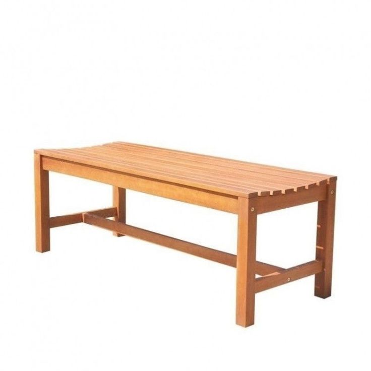 Outdoors Garden Bench 4 Foot Wood Backless Resistant Patio Furniture Porch Home #OutdoorsGardenBench