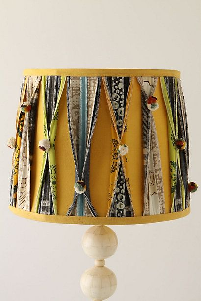 Good idea to dress up a boring lamp!