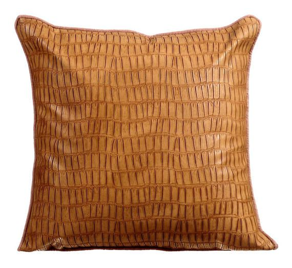 Decorative Throw Pillow Covers Accent Pillow Couch Leather