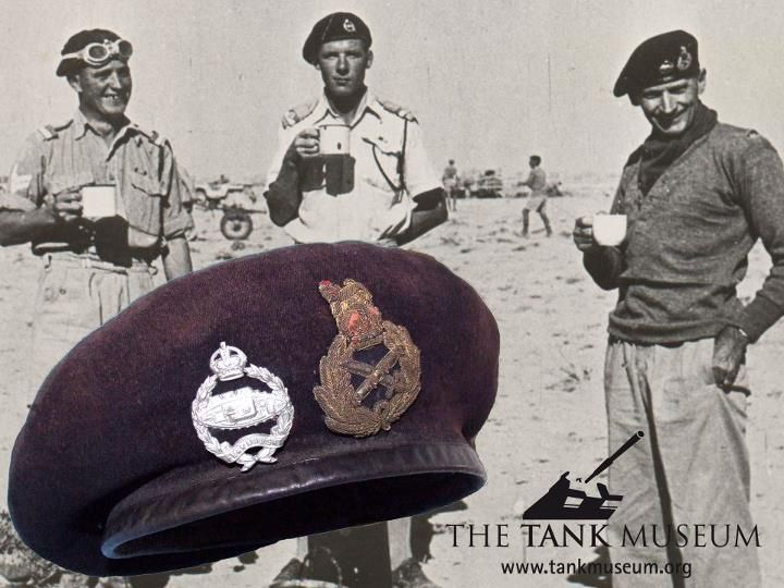 Field Marshal Bernard Montgomery donated his famous beret to The Tank Museum in 1945. - http://www.warhistoryonline.com/war-articles/field-marshal-bernard-montgomery-donated-his-famous-beret-to-the-tank-museum-in-1945.html
