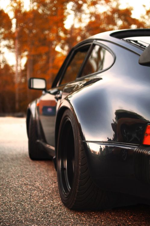 911 among the trees. porsche 930 classic cars