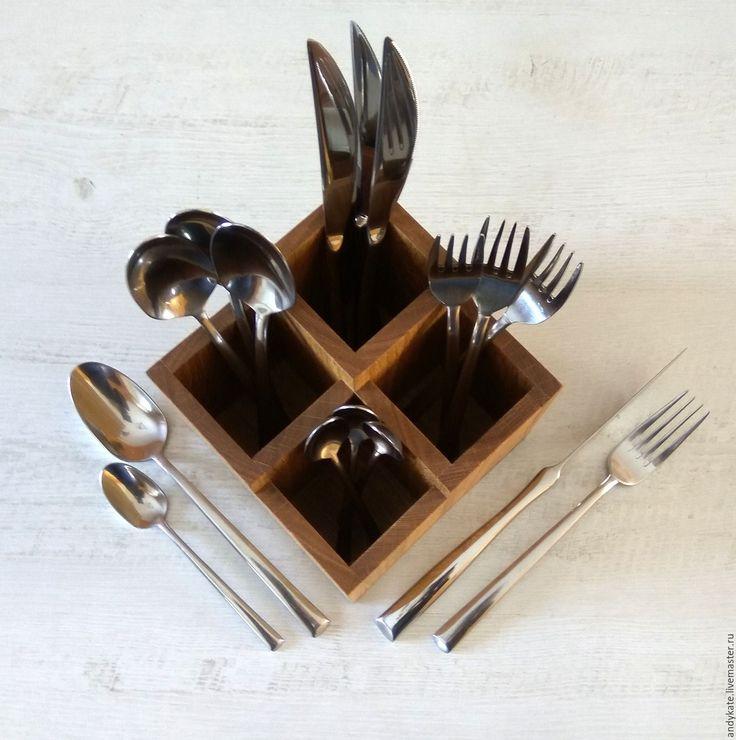 Купить Подставка для столовых приборов из дуба (145х145х140мм) - заготовки из дерева, деревянные заготовки, подставка