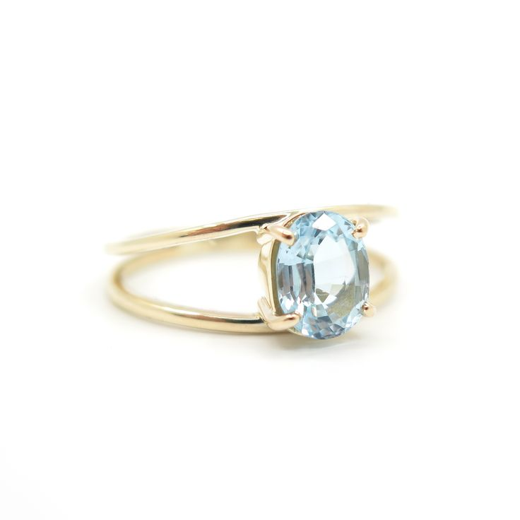 Aquamarine doubled banded ring | Dear Rae | Commission   #DearRae #DearRaeJewellery #Aquamarine