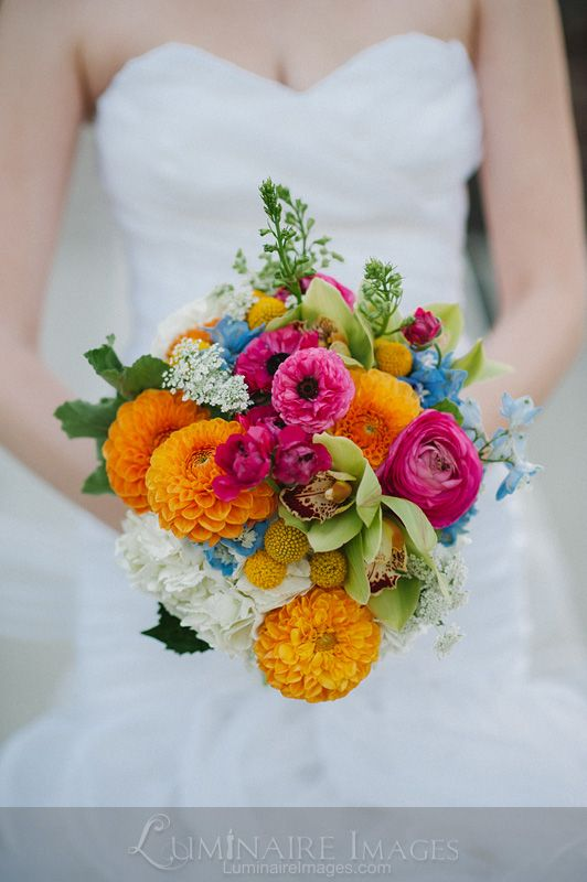 Multi-colored wedding bouquet from Empora Flora Artistry