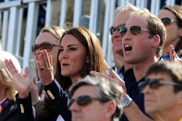 SLIDESHOW: Kate Middleton and a large group of royals cheer on Prince William's cousin Zara Phillips at the 2012 Olympics #teamgb #equestrian #olympics #2012olympics #celebrities #entertainment @Examiner .com