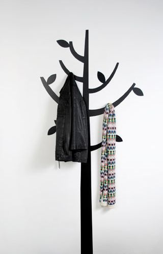 I like this idea for a place to hang coats or in a small bath to hang towels. A kids bath would be cute also.