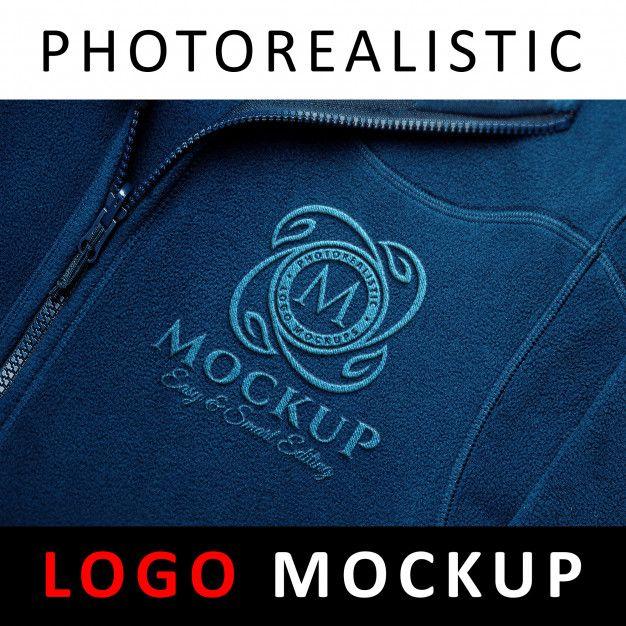 Download Logo Mock Up Embroidered Sport Cloth Stitched Logo Logo Mockup Modern Business Cards Design Company Logo Design