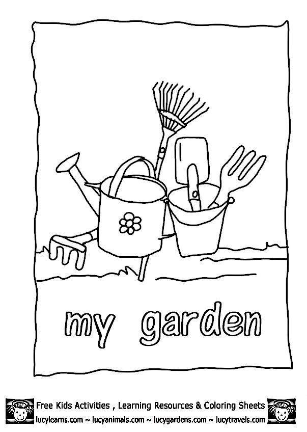 20 Besten Malvorlagen Fur Die Gartenwoche Besten Die Fur Gardeningtoolsworksheet Garte Besten In 2020 Garden Coloring Pages Coloring Pages Colorful Garden
