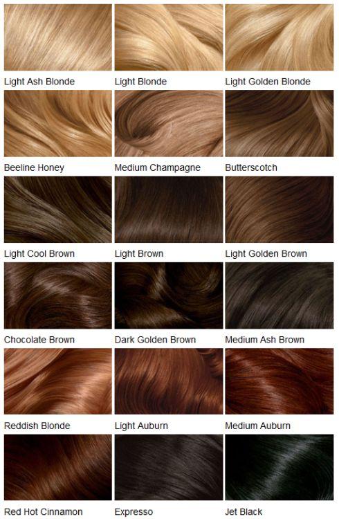 Clairol Hair Color Chart, Clairol Hair
