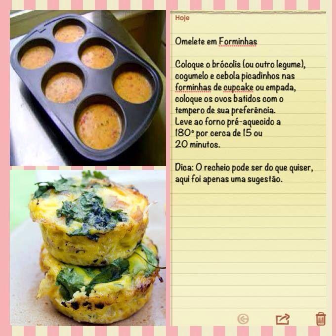 Omelete com brocolis