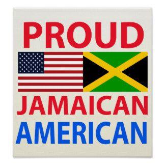 Jamaican Art Prints   Proud Jamaican American Print