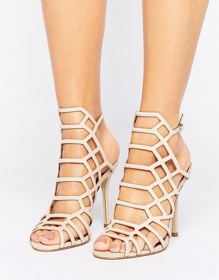 Steve Madden Slithur Blush Caged Heeled Sandals