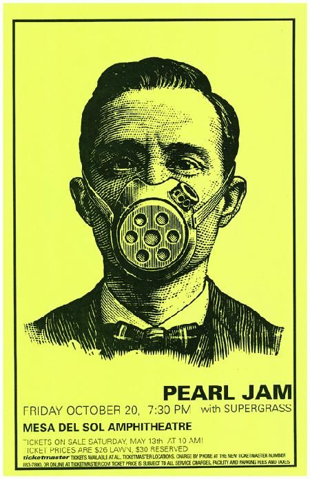 Concert poster for Pearl Jam live in Albuquerque 2000. 11
