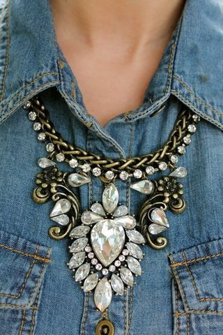 Statement Necklace on denim