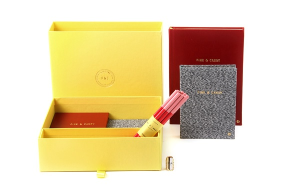 Fine&Candy stationery - Yellow Paris