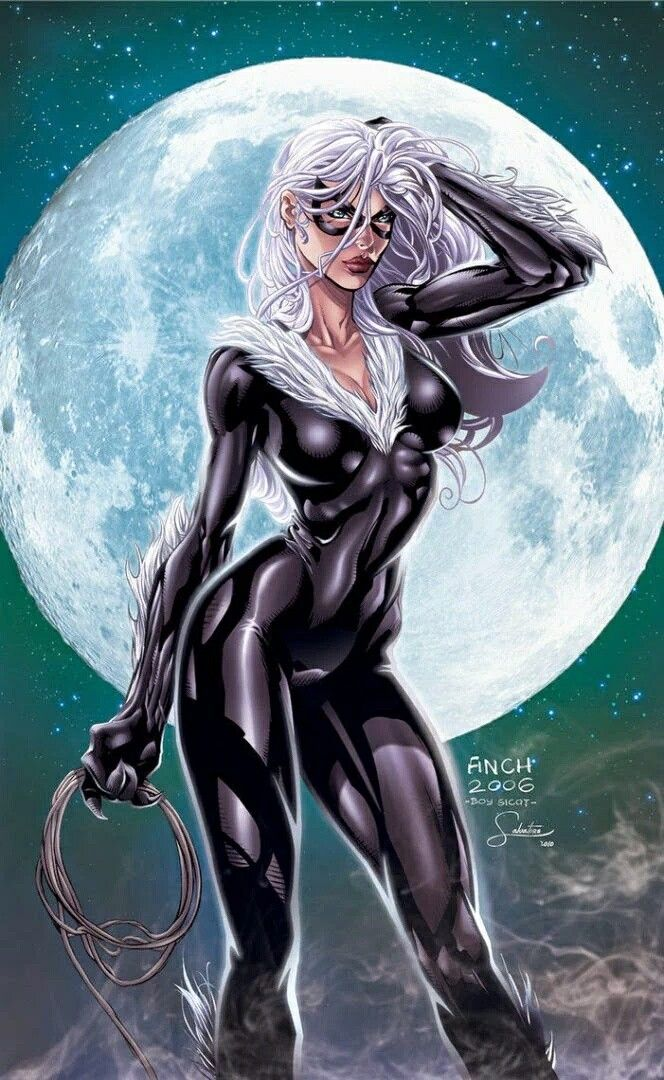The Black Cat from The Marvel Comic Universe.
