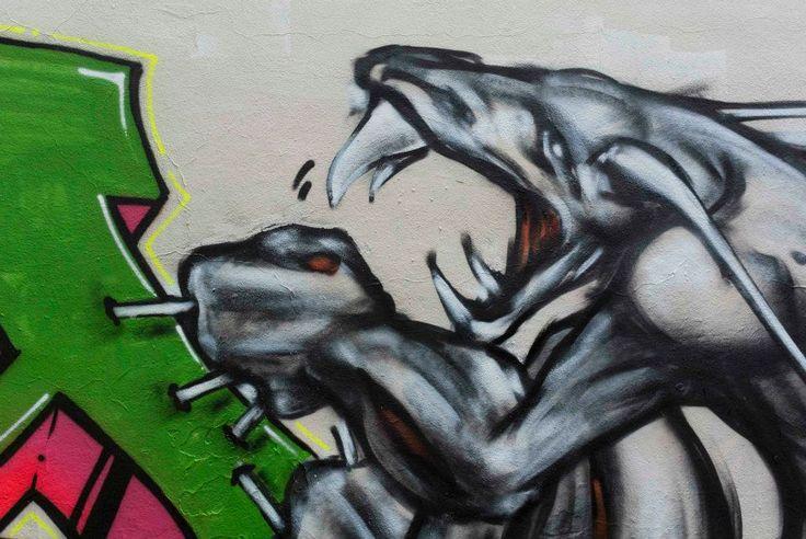 jam al parchetto di via Sanzio a Milano #streetart #graffiti #gattonero