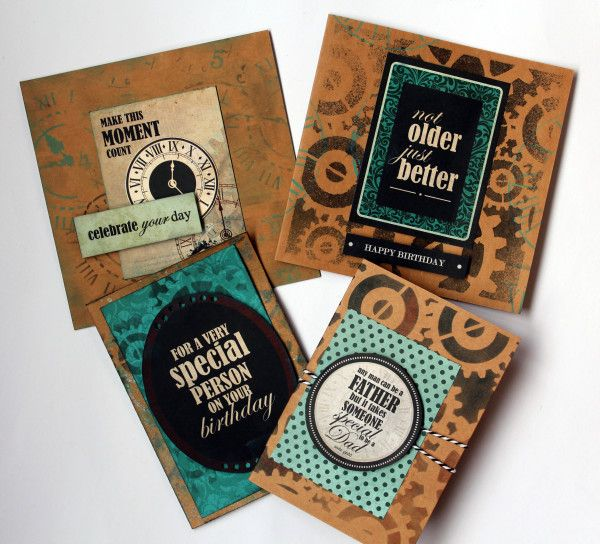 "Kaisercraft "" Time Machine"" Cards by Kylie Cornish"