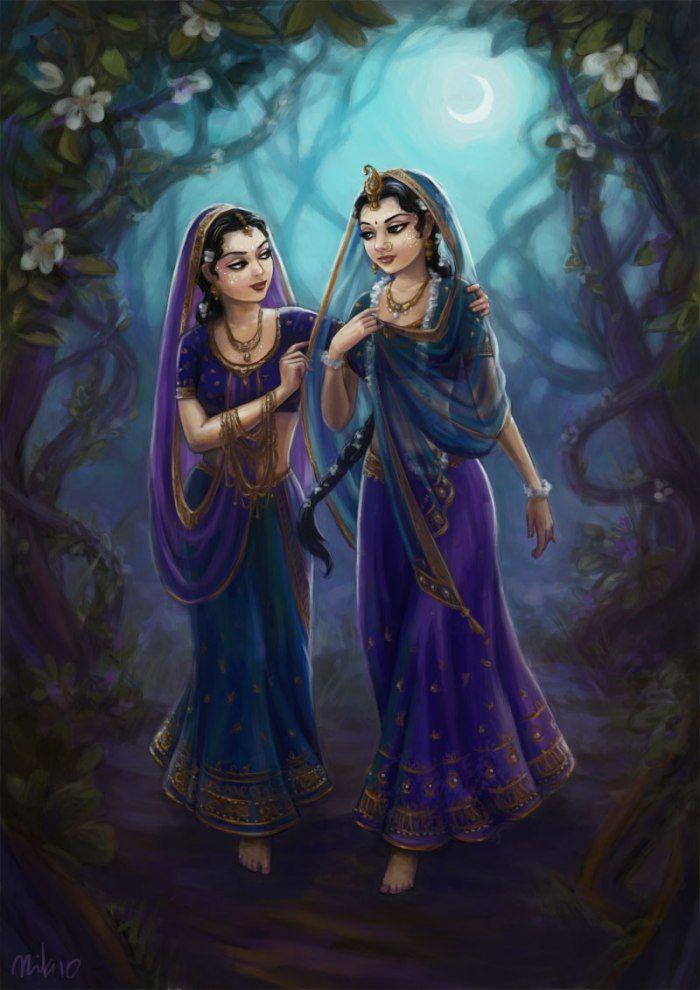 https://nilambaridasi.wordpress.com/paintings/  Vrindavan - Jay Sri Radhe!